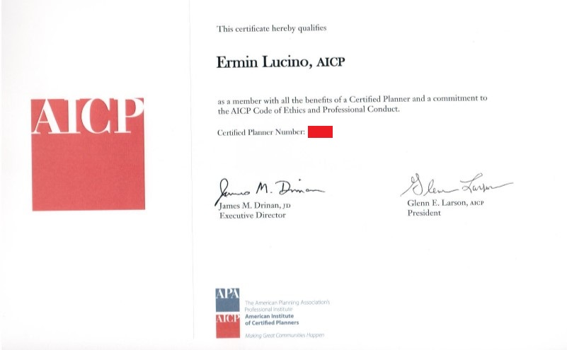 How I passed the American Institute of Certified Planners (AICP) even if I am not from the United States – Benefits of passing the AICP exam
