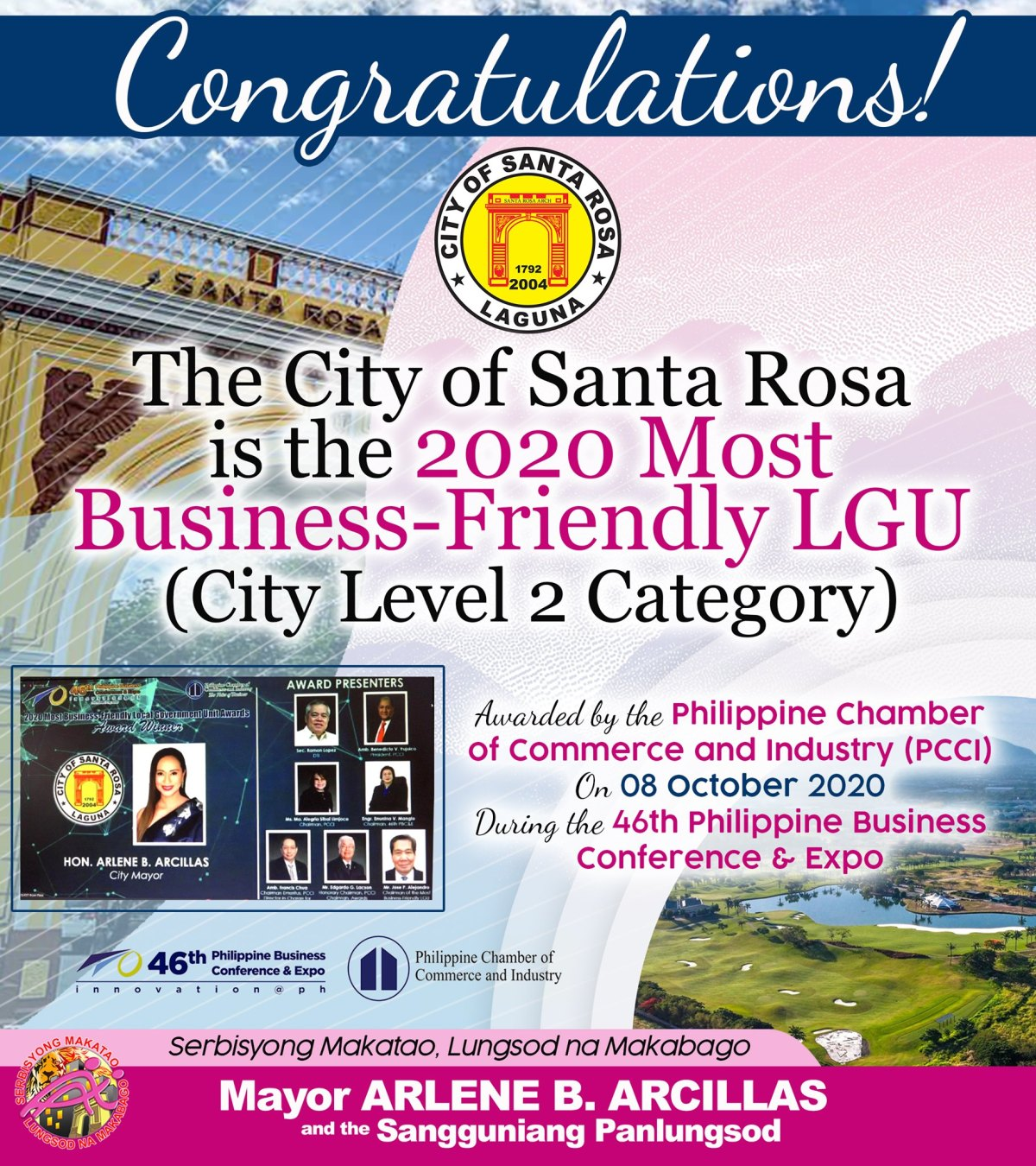 2020 Most Business-Friendly Local Government Unit (LGU) and COVID 19: City of Santa Rosa, Philippines